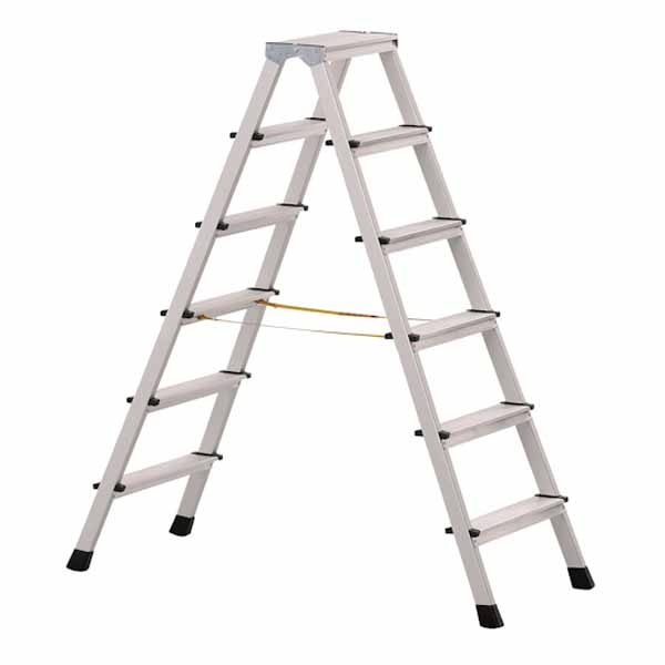 Aluminium double sided ladders